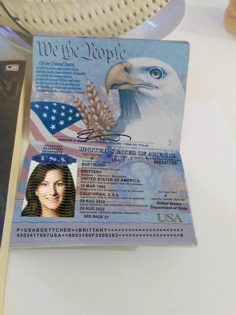 Fake Passport Brittany Boettcher