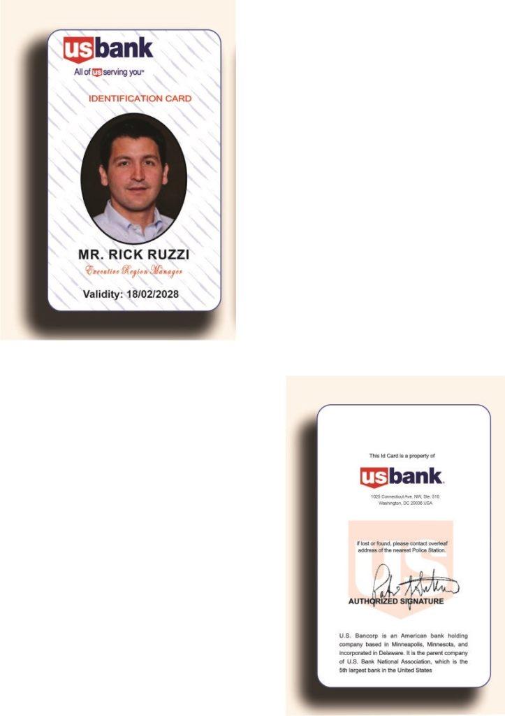 Fake document of Rick Ruzzi