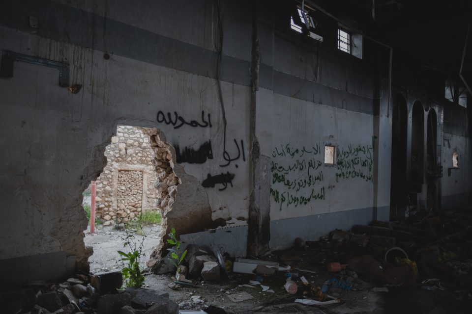 A mosque in Shingal reduced to ruins by the war with the Islamic State.
